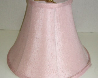 SALE 50% off Pink Shantung Silk Table Lamp Shade CLOSEOUT lined shade