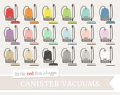 Canister Vacuum Clipart, Vacuum Cleaner Clip Art Vintage Antique Clean Home Household Icon Cute Digital Graphic Design Small Commercial Use