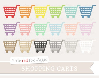 Shopping Cart Clipart, Shopping Clip Art Grocery Shop Basket List Planner Icon Groceries Cute Digital Graphic Design Small Commercial Use
