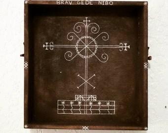 Brav/Brave Gede/Ghede Nibo Veve Artwork. Vodou/Voodoo Art for the Lwa/Loa