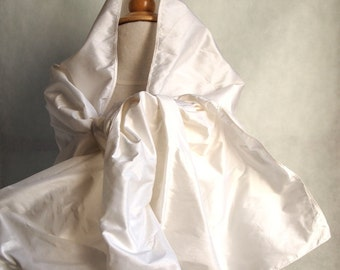 Silk wrap shawl available in white, perfect for a bride or a wedding