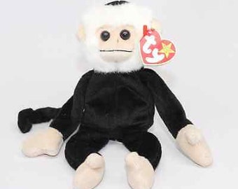 TY Beanie Baby: Mooch the Spider Monkey 1998 - Rare, Retired, & 2 ERRORs on Tags