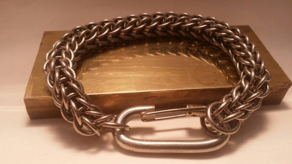 Stainless Steel Full Persian weave  bracelet for men or women made to order.