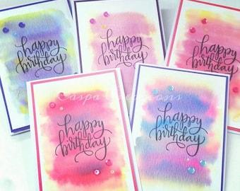 Birthday Watercolour Combo- Set of 5