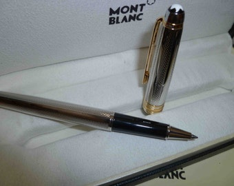 Original Refurbished MB Meisterstuck Silver Gold Coating Roller Ball Pen