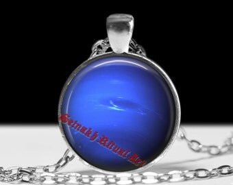 Neptun jewelry Astrology necklace Planet pendant Cosmos jewellery #433.8