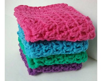 Cotton Dishcloth, Cotton Dishcloths, Kitchen Dishcloths, Kitchen Scrubber, Cotton Washcloths