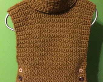 Crocheted pullover sweater