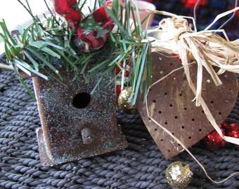 2 Decorations - 1 Birdhouse 1 Heart # 5