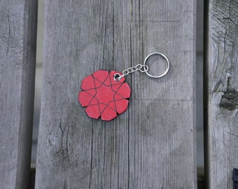 SALE 40% OFF, Leather keychain islamic star various colors