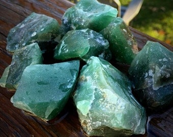 """1 One PRASIOLITE """"Green Amethyst"""" Raw Rough Stone Chunk ~ 1.5 to 2"""" Crystal Healing Mineral ~ Jewelry"""