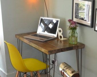 Industrial Desk Mid Century Modern Style hairpin leg table