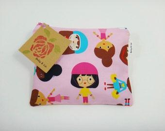 Sport Girls Reusable Snack Bag, Sandwich Bag, Girls Snack Bag, Reusable Sandwich Bag, Travel Bag, Pacifier Pouch, Pet Treat Pouch