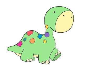 Dinosaur Cartoon Print 2