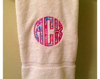 Monogrammed Lilly Pulitzer Bath Towel