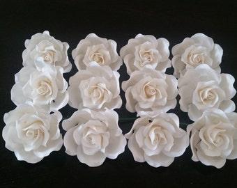 WHOLESALE: 12 Medium Sugar Roses, 12 Medium Gumpaste Roses, Sugar Flower, Gumpaste Flower