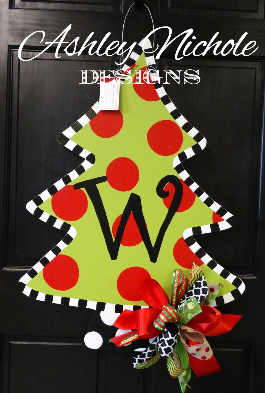 Christmas Tree Door Hanger Christmas Door Decor Christmas