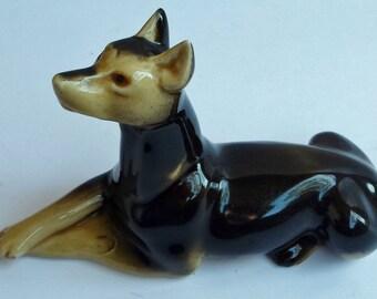 Vintage Brazilian Ceramic Doberman Figurine