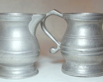 Vintage Williamsburg Style Pewter Cream and Sugar Containers