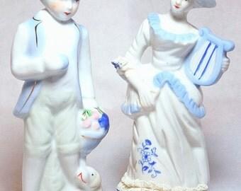 Vintage Pair of Porcelain Figurines