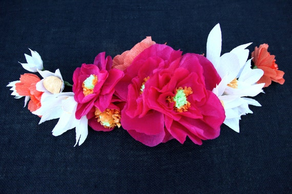 Day of the dead paper flower garland dia de los muertos like this item mightylinksfo Choice Image