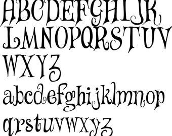 Letter Stencils - Alphabet - Upper case and Lower case. Mylar