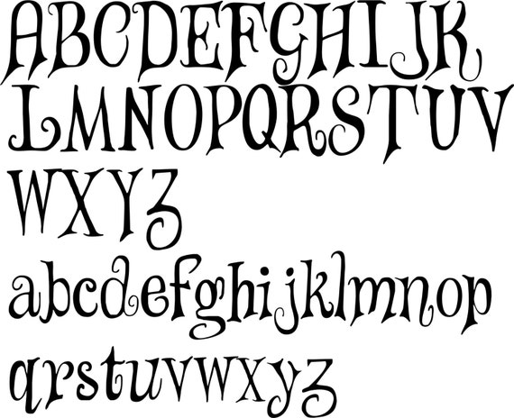 It is a graphic of Nerdy Alphabet Stencils Printable