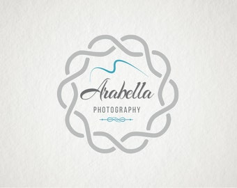 Photography logo Custom Premade Logo Watermark Design Scroll Logo Text Logo Shop Logo