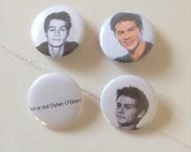 Dylan O'Brien Pinback Button Set of 4 (31mm)