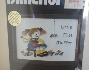 "Vintage Creative Stitchery ""Little Miss Muffet"" Kit, Dimensions #6006"
