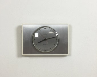 70s modernist metal wall clock JUNGHANS Atomat | made in germany |  Eames panton era | danish modern | midcentury modern