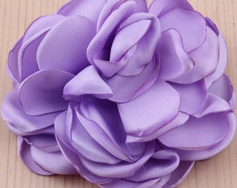 2 Singed Satin Flowers Multi Layer Singed Flowers, Satin Flowers, Satin Flower Headband, Satin Singed Flowers, Flower Girl Flowers.