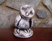 Owl Decor - Bekka Owl Figurine from Mt St Helen's Ash - Wildlife Collection Sculpture by Leone Ardo