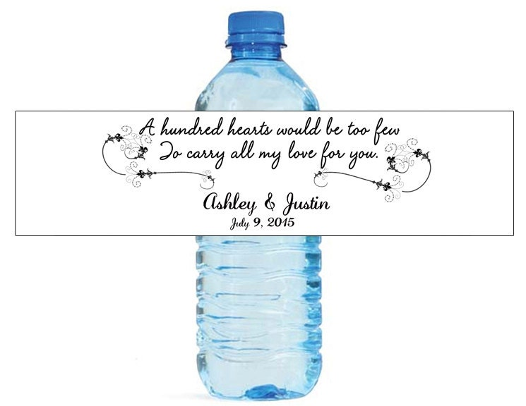 A Hundred Hearts Quote Wedding Anniversary Engagment Water