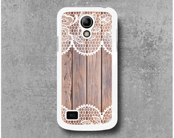 Samsung Galaxy S4 Mini case with wood Lace