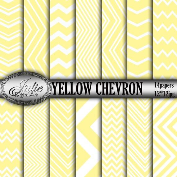 yellow white chevron digital paper mustard zigzag background