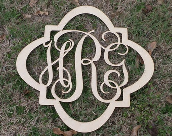 Unfinished Wooden Quatrefoil Wall Decor