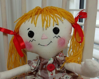 Beautiful Handmade Cloth Rag Doll