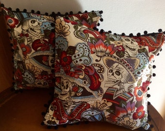 Day of the Dead slip cover pillow