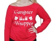 Gangster Wrapper Off Shoulder Christmas Sweater