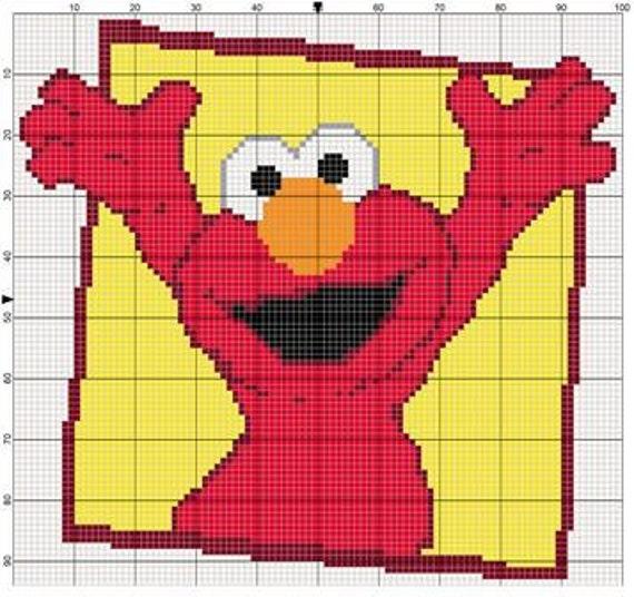 Pixel Crochet Pattern Elmo