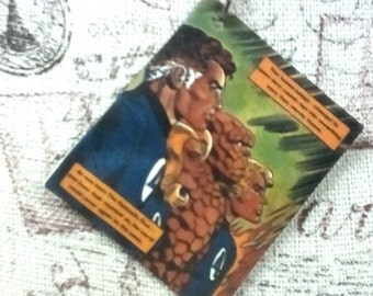 Fantastic Four Comic Book Keychain