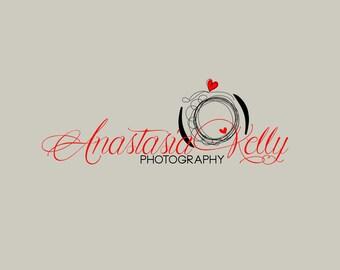 Digital Photography Watermark - Red Cursive - Digital Logo - Photography Logo - Photography Brand - Premade Brand - Digital Shop Logo