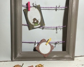 Wall organiser , A shabby chic Bulletin Board, Message Board, To do Board.