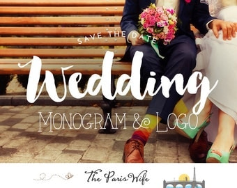 Custom Wedding Logo Design Wedding Monogram Logo Design Save the Date Wedding Design Logo Design Custom Monogram Design Custom Wedding Logo
