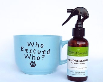 NO MORE SLYMEES Pet Bowl Cleaner  Eliminates Slymee residue on Pet Dishes for a Healthy Pet. Dog/Cat Bowls