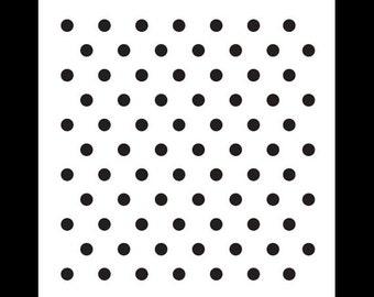 "1/4"" Dots Pattern Stencil-Select Size - STCL620 - by StudioR12"