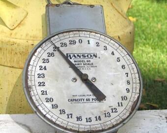 Vintage Hanson Model 60 Dairy Scale