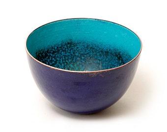 Unique enamelled copper bowl.  Handmade by Karen Murrell
