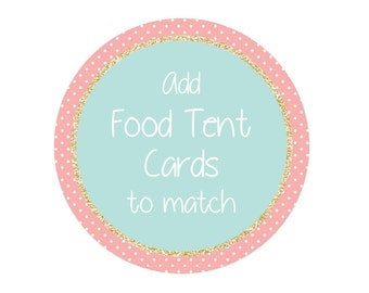 Food Tent Label Cards Add-On